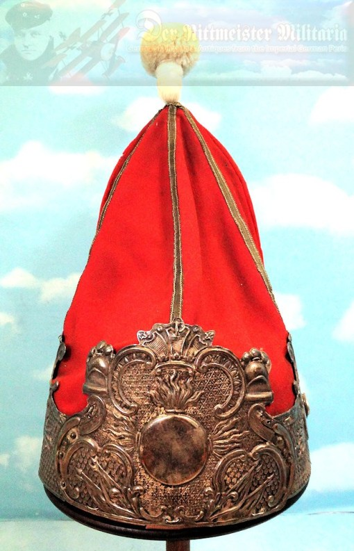 PRUSSIA - MITRE - ONE-YEAR-VOLUNTEER - ERSTE GARDE REGIMENT ZU FUß BATAILLON NR I - FRIEDRICH der GROßE-STYLE - Imperial German Military Antiques Sale