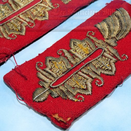 GERMANY - COLLAR INSIGNIAS - OFFICER - KRAGENSPIEGEL - Imperial German Military Antiques Sale