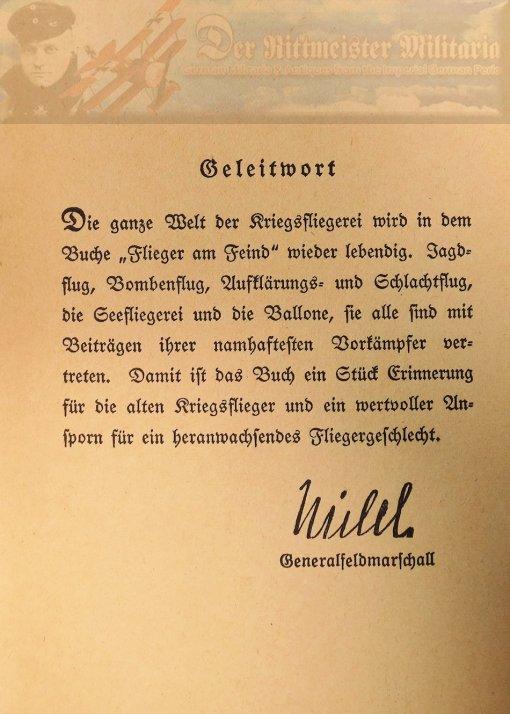 BOOK - FLIEGER AM FEIND - EINUNDSIEBZIG DEUTSCHE LUFTFAHRER ERZÄHLEN BY WERNER VON LANGSDORFF.