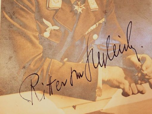 PHOTOGRAPH - AUTOGRAPHED - EDUARD RITTER VON SCHLEICH - ORIGINAL LARGE FORMAT - FROM WORLD WAR II - Imperial German Military Antiques Sale