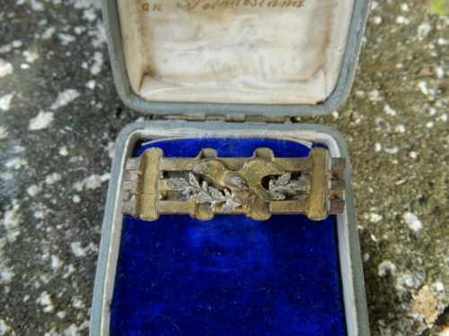 GERMANY - PATRIOTIC PIN - TRENCH ART - IN A PRESENTATION CASE - Imperial German Military Antiques Sale