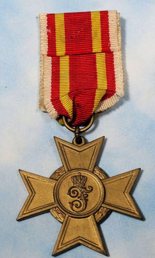 BADEN - WAR SERVICE CROSS