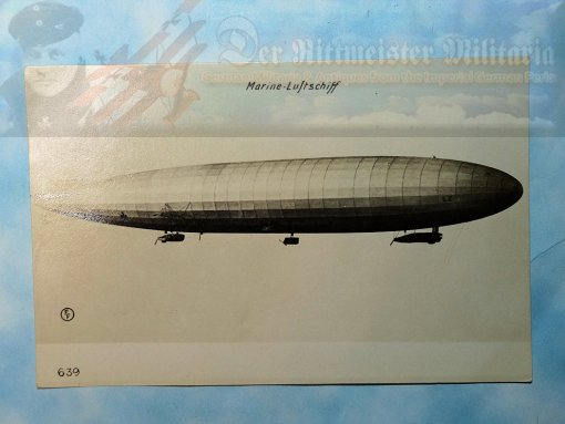 POSTCARD - NAVY ZEPPELIN