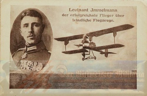 PRUSSIA - POSTCARD - MAX IMMELMANN AND AIRPLANE - AVIATION
