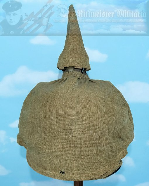 GERMANY - FOUL WEATHER COVER - PICKELHAUBE - Imperial German Military Antiques Sale