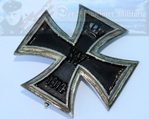 GERMANY - IRON CROSS - 1914 - 1st CLASS - SLIGHTLY VAULTED - Imperial German Military Antiques Sale
