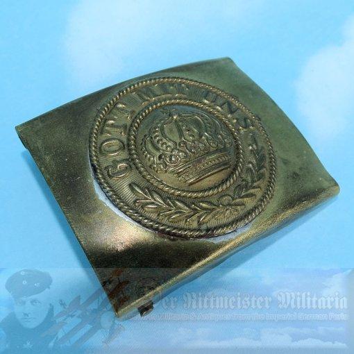 PRUSSIA - BELT BUCKLE - PRE WAR - BRASS - Imperial German Military Antiques Sale