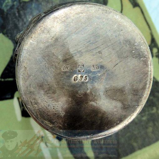 BRAUNSCHWEIG - GOBLET - INFANTERIE-REGIMENT NR 92 - PENINSULA BANDEAU - 9 CM TALL - Imperial German Military Antiques Sale