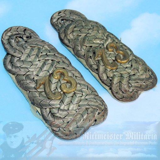 PRUSSIA / HANOVER - SHOULDER BOARDS - MAJOR - INFANTERIE-REGIMENT NR 73 - Imperial German Military Antiques Sale