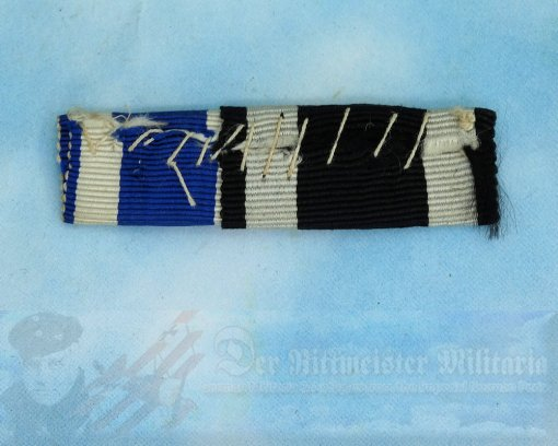 GERMANY - RIBBON BAR - TWO PLACE - SCHAUMBURG LIPPE - IRON CROSS - Imperial German Military Antiques Sale