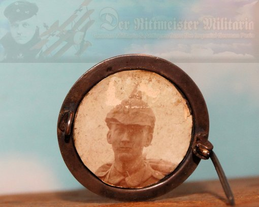 GERMANY - PATRIOTIC PIN - IRON CROSS MOURNING PIN - Imperial German Military Antiques Sale