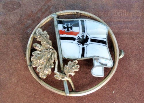 GERMANY - PIN - PATRIOTIC - MULTI COLORED ENAMEL - KRIEGSFLAGGE.