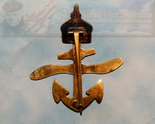 GERMANY - PATRIOTIC PIN - NAVAL AVIATION - PATRIOTIC - Imperial German Military Antiques Sale