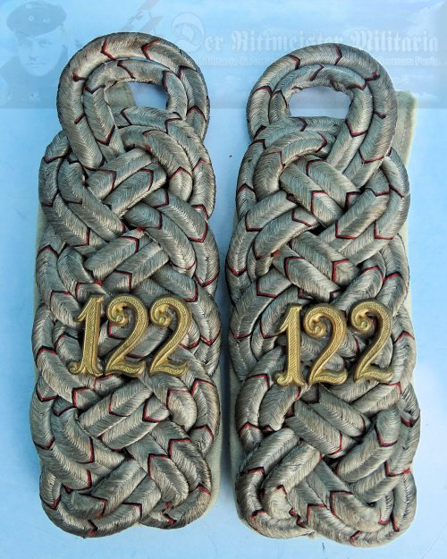 WÜRTTEMBERG - SHOULDER BOARDS - MAJOR - INFANTERIE-REGIMENT NR 122