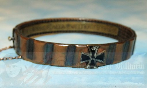 GERMANY - PATRIOTIC BRACELET - TRENCH ART - MADE FROM THE DRIVING BAND OF AN ARTILLERY SHELL