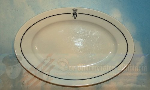 BAVARIA / UNKNOWN - PLATTER - LARGE OVAL SHAPED - WITH AN UNKNOWN ROYAL CYPHER - Imperial German Military Antiques Sale