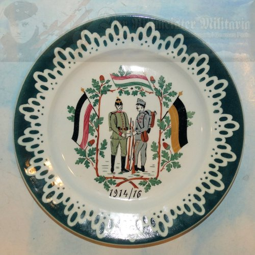 AUSTRIA / GERMANY - PLATE - PATRIOTIC - COMMEMORATING THE GERMAN AND AUSTRIAN ALLIANCE 1914-1916
