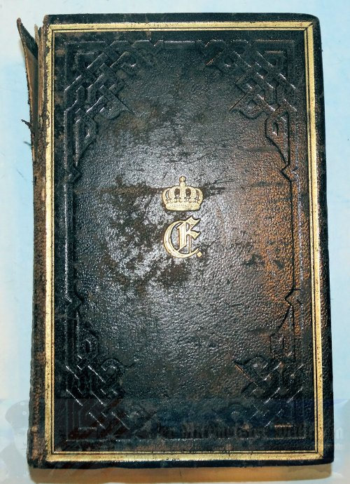 PRUSSIA - BIBLE - AUTOGRAPHED AND DATED - PERSONAL BIBLE OF QUEEN ELISABETH LUDOVIKA OF PRUSSIA - Imperial German Military Antiques Sale