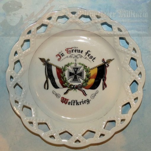 AUSTRIA / HUNGRY / GERMANY - PATRIOTIC PLATE - WAR TIME EFFORT - Imperial German Military Antiques Sale
