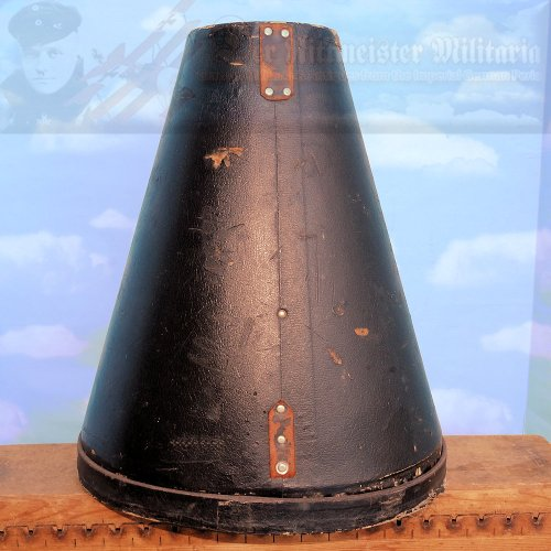 GERMANY - PICKELHAUBE TRAVEL STORAGE CASE - TALL SIZE - WITH RAILWAY STAMPS - WITH BOTTOM