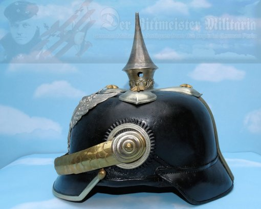 PRUSSIA/HANNOVER - PICKELHAUBE / SPIKE HELMET - OFFICER - DRAGONER-REGIMENT NR 16