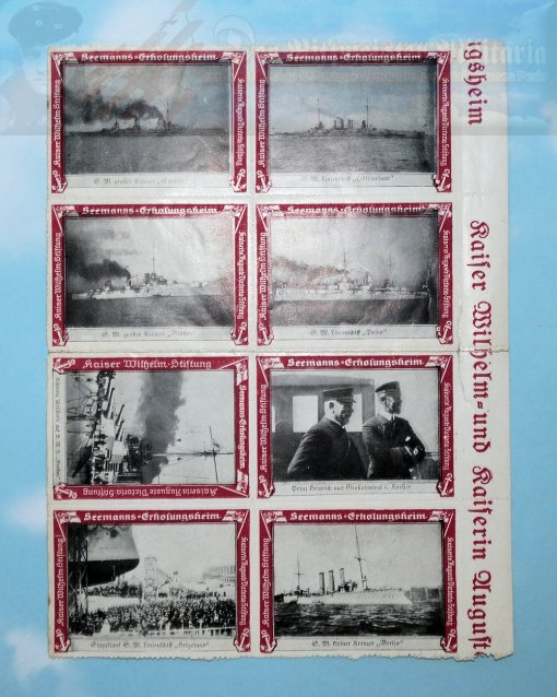 GERMANY - PATRIOTIC STAMPS - NAVY - EIGHT