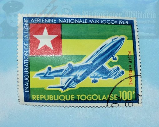 AFRICA - POSTAGE STAMP - REPUBLIC OF TOGO - COMMEMORATING THE COMMENCEMENT OF AIRLINE SERVICE