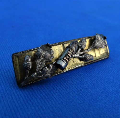 GERMANY - PATRIOTIC PIN - TRENCH ART - DRIVING BAND OF AN ARTILLERY SHELL