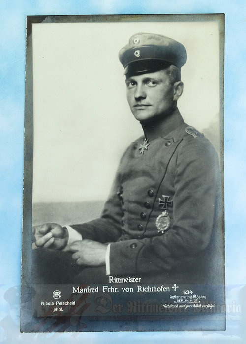 GERMANY - SANKE CAR NR 534 - MANFRED VON RICHTHOFEN - DEATH CARD - NR 534