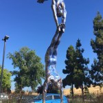 Double Diver Statue in front of NetApp HQ