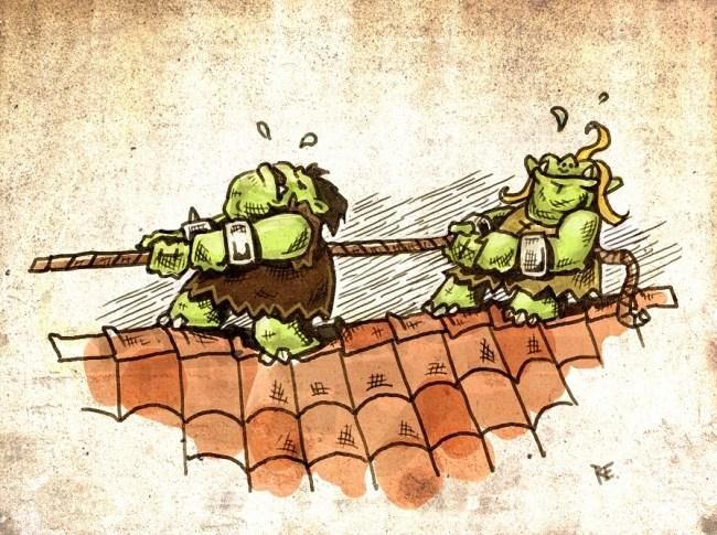 Horrk und Grablakk treiben Schabernack
