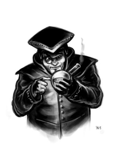 Lazarus Bragi, Alchemist und Forscher Illustration: Rudy Eizenhöfer