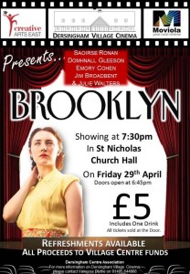 village cinema poster for brooklyn