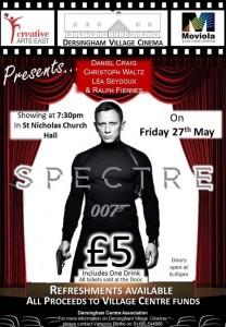 vilage cinema poster for spectre