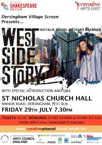 poster for screening of the film west side story