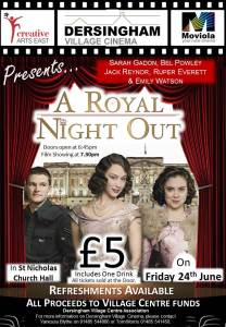 poster for film titled a royal night out
