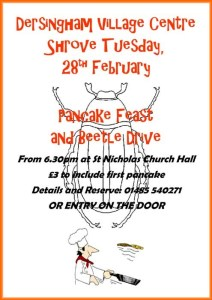 poster for pancake supper