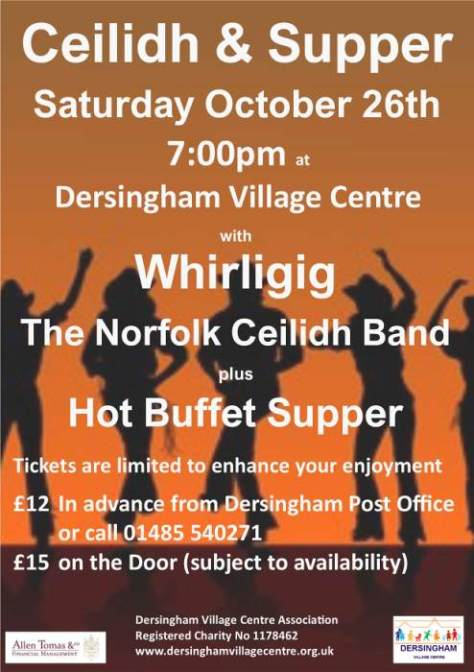 Ceilidh poster October 2019