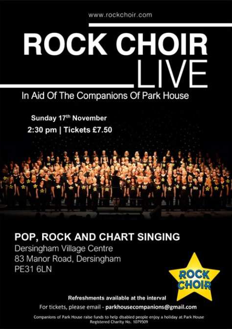poster for rock choir