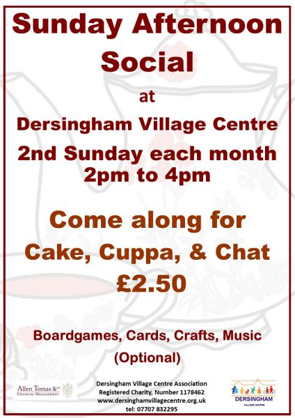 poster for sunday social afternoon