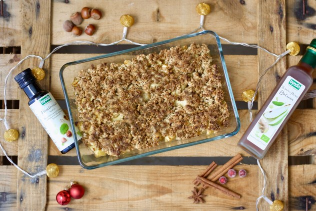 Apple Crumble mit Ingwer Balsam