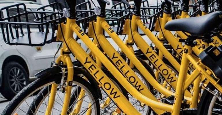 bicicletas amarelas em Curitiba
