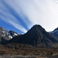 In the shadow of the Cuillin Mountains.