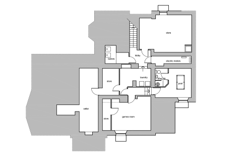 small resolution of the house basement floor plan
