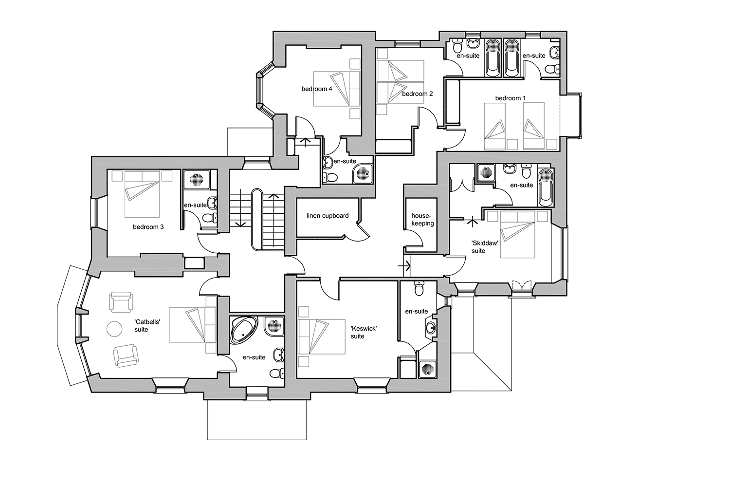 Floor Plans — Derwentwater House, Keswick, the Lake District