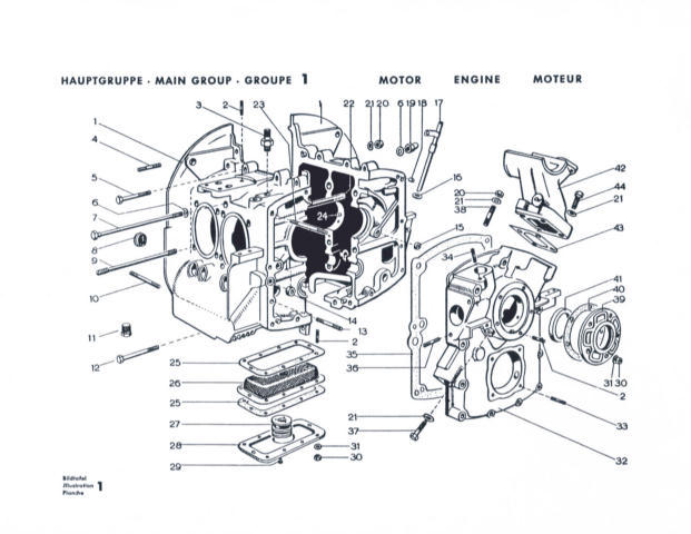 Porsche 356 600 Engine Diagram, Porsche, Free Engine Image