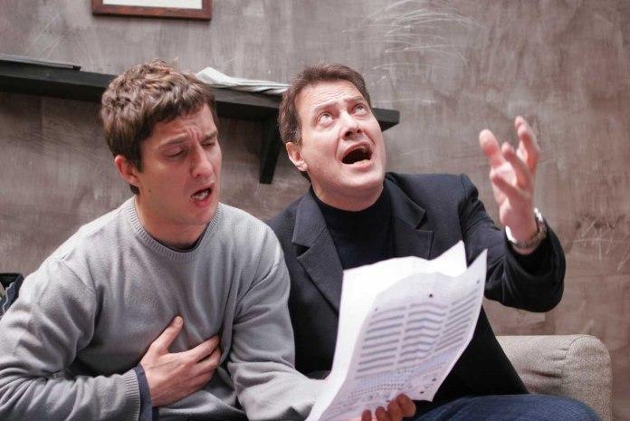 Alessandro Tiberi e Corrado Guzzanti in un episodio di Boris