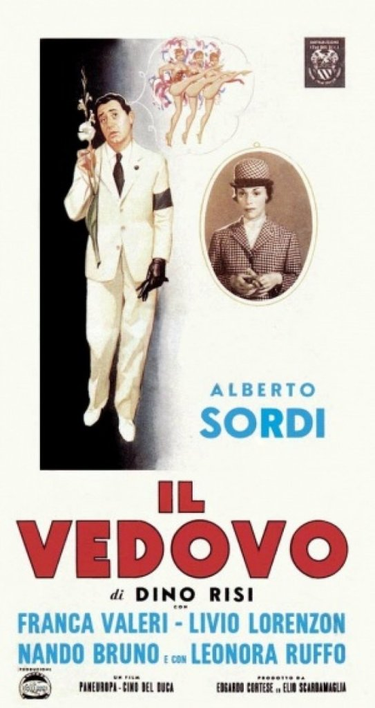 Il vedovo di Dino Risi. Anno 1959, con Alberto Sordi e Franca Valeri.