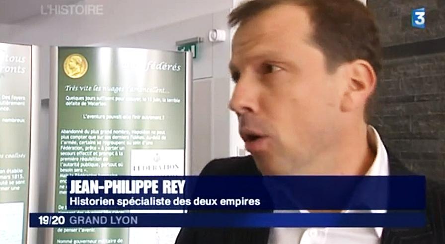 Jean-Philippe Rey au 19/20 de France 3 Rhône-Alpes