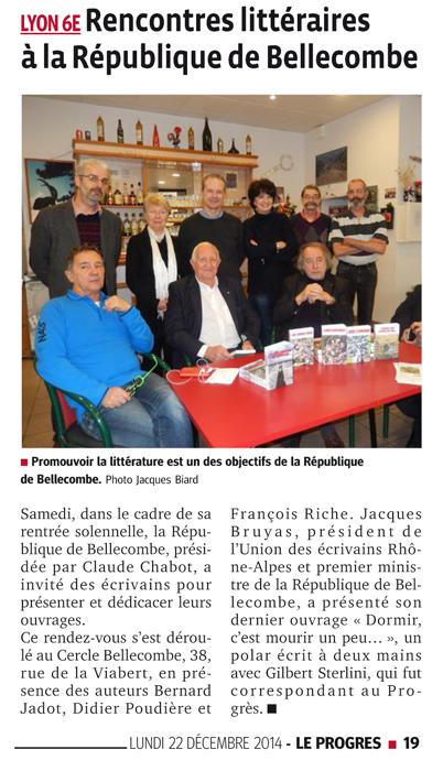 Rencontres littéraires à la République de Bellecombe